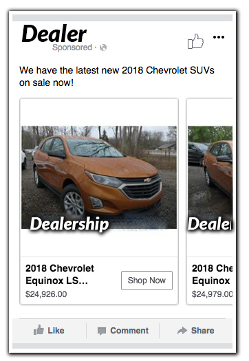 Dealer Facebook Ad